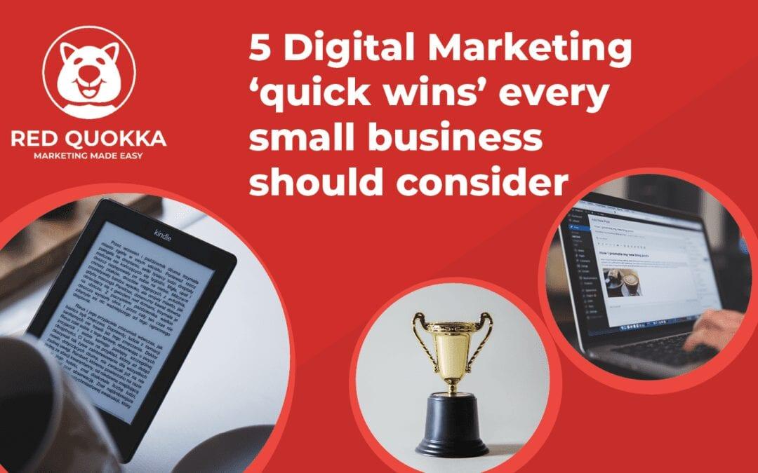 5 Digital Marketing quick wins blog MAIN IMAGE